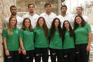 Estudantes da Universidade do Porto nas Seleções Nacionais Universitárias de Andebol.
