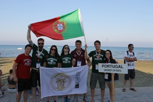 A delegação da U.Porto de Voleibol de Praia que está no Chipre a disputar o Europeu Universitário.
