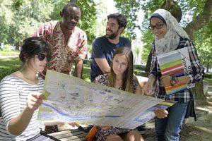 Estudantes internacionais na Cordoaria