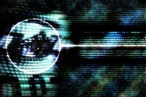 Woman's Eye and Binary Code