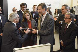 Visita dos Reis de Espanha ao UPTEC