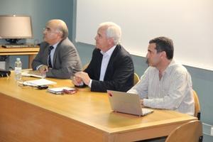 Luís Filipe Malheiros, António Machado e Moura e João Falcão e Cunha (da esq. para a dir. Foto: DR)