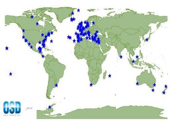 Mapa descritivo dos 170 locais de amostragem