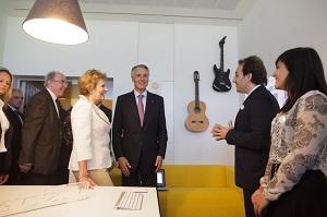 A Musicverb recebeu,  recentemente a visita do Presidente da República.