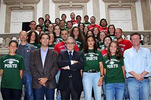 Reitor com comitiva da U.Porto nos EUGames 2014