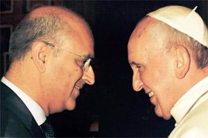 Filipe Almeida (FMUP) e Papa Francisco