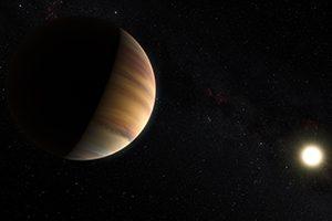 Imagem artística do exoplaneta 51 Pegasi b (Crédito: ESO/M. Kornmesser/Nick Risinger)