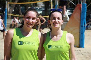 CNU de Voleibol de Praia 2015 | Ana Monteiro (FCNAUP) e Rosa Couto (FFUP)