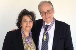 Maria Amélia Ferreira e António Sarmento - Medalha da Defesa Militar