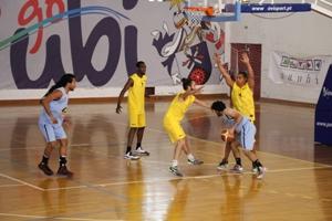 Equipa de Basquetebol 3x3 que se sagrou campeã nacional universtiária apurando-se para o Europeu Universitário.