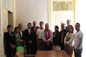 Receção das delegações pelo Bispo Dom Carlos Ximenes Belo.