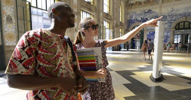 Estudantes internacionais em São Bento (destaque)