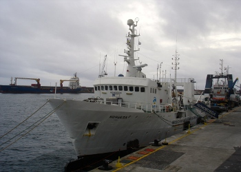 """Navio de Investigação """"Noruega"""", a bordo do qual decorreu a campanha oceanográfica"""