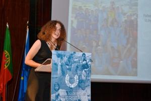 Futebol de 7 feminino é a Melhor Equipa do Ano, prémio recebido por Sofia Rios.