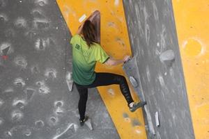 Vitória Rezende sagrou-se campeã nacional em Escalada Boulder.