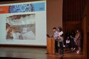 No fim do Projeto os alunos apresentaram os trabalhos realizados em conjunto com a FFUP