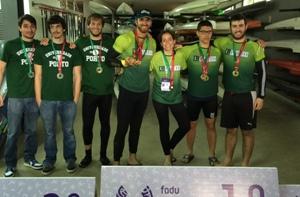 Equipa de Canoagem da U.Porto venceu 5 medalhas e ouro, 1 de prata e 2 de bronze.