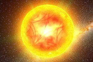 Imagem artística da propagação de ondas no interior de uma estrela. Crédito: G. Perez, IAC/SMM