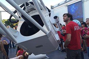 Grande Telescópio do Observatório Astronómico Prof. Manuel de Barros da Universidade do Porto, inauguração