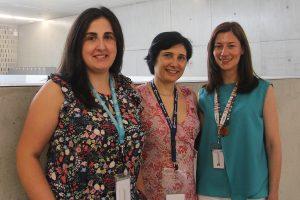 Da esq. para dir.: Ana Seixas, Isabel Silveira e Joana Loureiro, investigadoras i3S