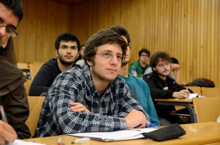 Aulas estudantes auditório fcup