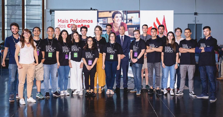 Estudantes da U.Porto na EIA 2019 (destaque)|EIA - Biotimix|EIA - GroupPay|EIA - SafeSeat|EIA destaque|Estudantes da U.Porto na EIA 2019|EIA 2019 - GroupPay