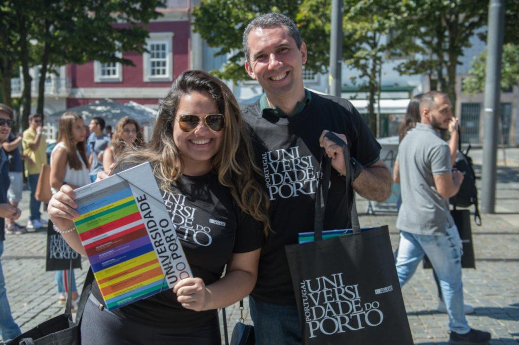 Sessão de Rececção aos Novos Alunos 2018 da Universidade do Porto, que decorreu no dia 13 de Setembro de 2018, no Largo dos Leões, em frente á reitoria da UP, no Porto