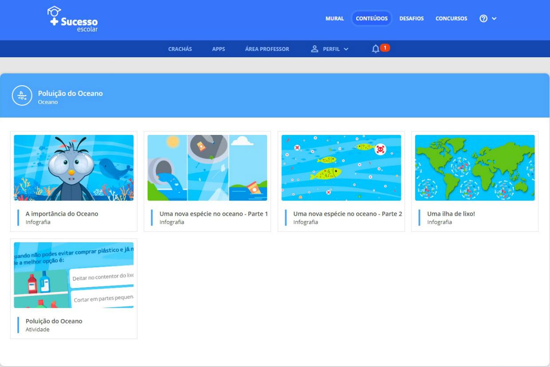 """O referencial """"Oceano"""" é um dos novos temas da plataforma destinada a crianças do pré-escolar e 1º Ciclo de Ensino Básico."""