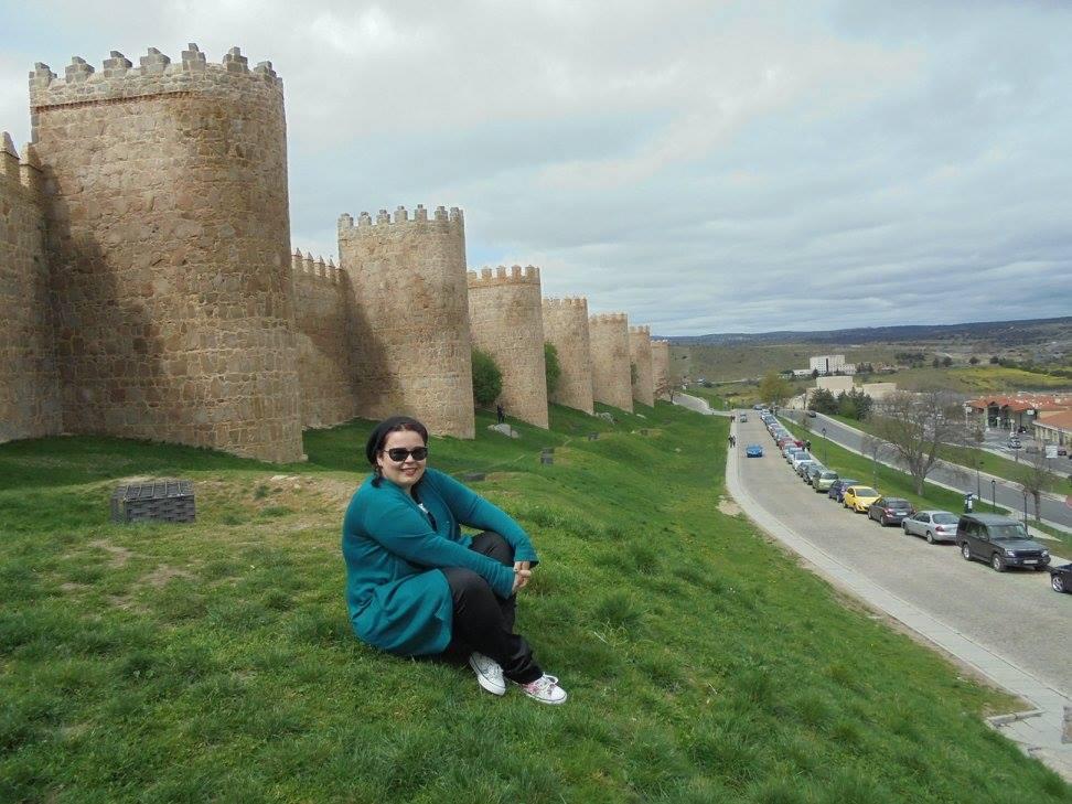 Joana Neto Lima em visita a Ávila, Espanha
