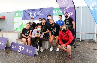 Estudantes-atletas da Universidade do Porto e Oficial do Centro de Desporto da U.Porto no pódio do Campeonato Nacional Universitário de Canoagem