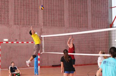 atletas a jogarem voleibol