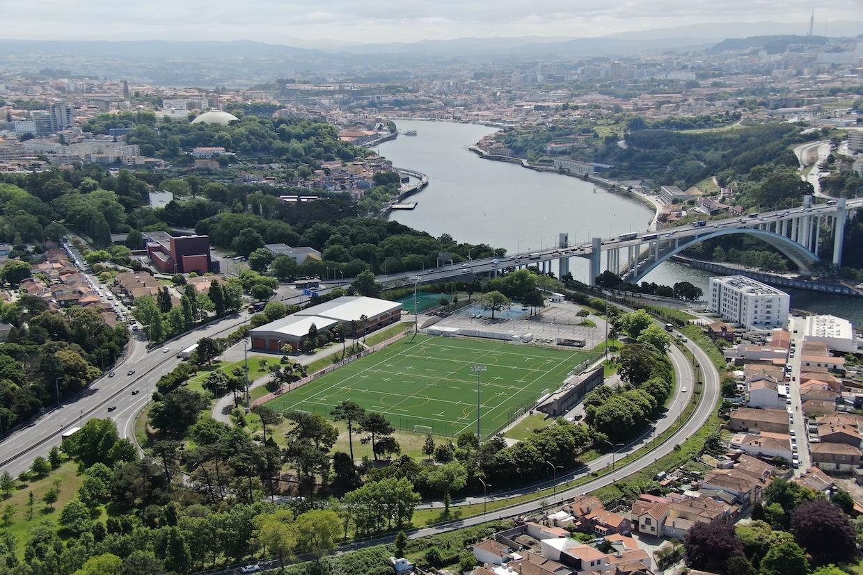 Vista aérea do Estádio Universitário do Porto