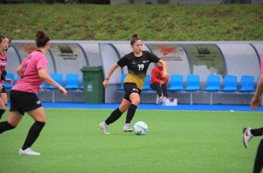 estudante-atleta da universidade do porto durante o campeonato nacional universitário de futebol de 7
